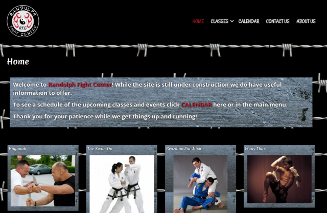 Image of Randolph Fight Center home page