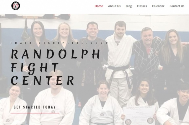 Image of the home page for Randolph Fight Center